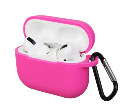 Чехол для Airpods Pro Silicon case Hot Pink
