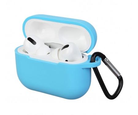 Чехол для Airpods Pro Silicon case Light Blue