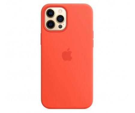 Чехол для Apple iPhone 12 Pro Max Silicone Case with MagSafe Electric Orange