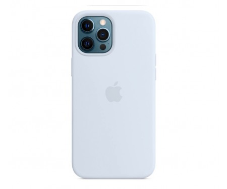 Чехол для Apple iPhone 12/12 Pro Silicone Case with MagSafe Cloud Blue