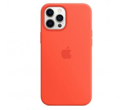 Чехол для Apple iPhone 12/12 Pro Silicone Case with MagSafe Electric Orange