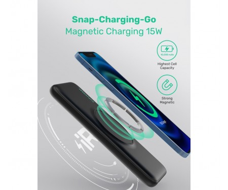 Power Bank IRONN Magnetic Wireless 10000mAh Black (IR2015MWH)