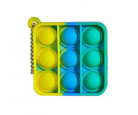 Игрушка-антистресс Pop it Keychain Square Green/Yellow