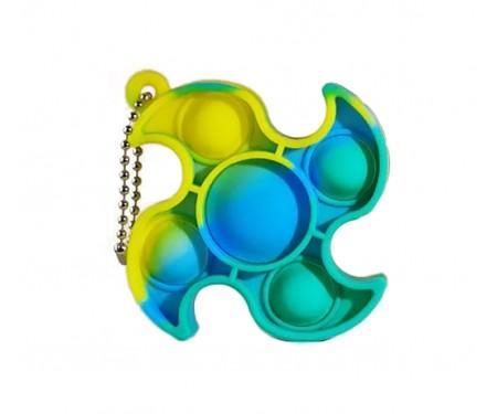 Игрушка-антистресс Pop it Keychain Spinner Green/Yellow