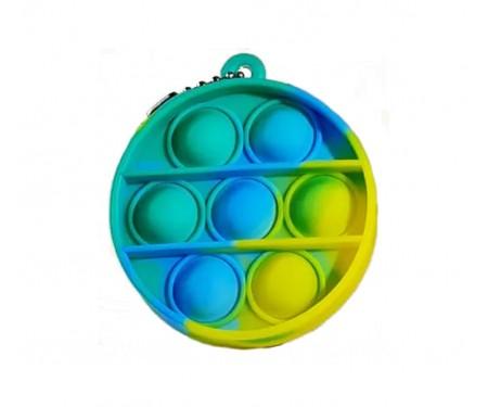 Игрушка-антистресс Pop it Keychain Circle Green/Yellow