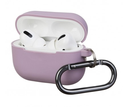 Чехол для Airpods Pro Silicon with hook Lilac