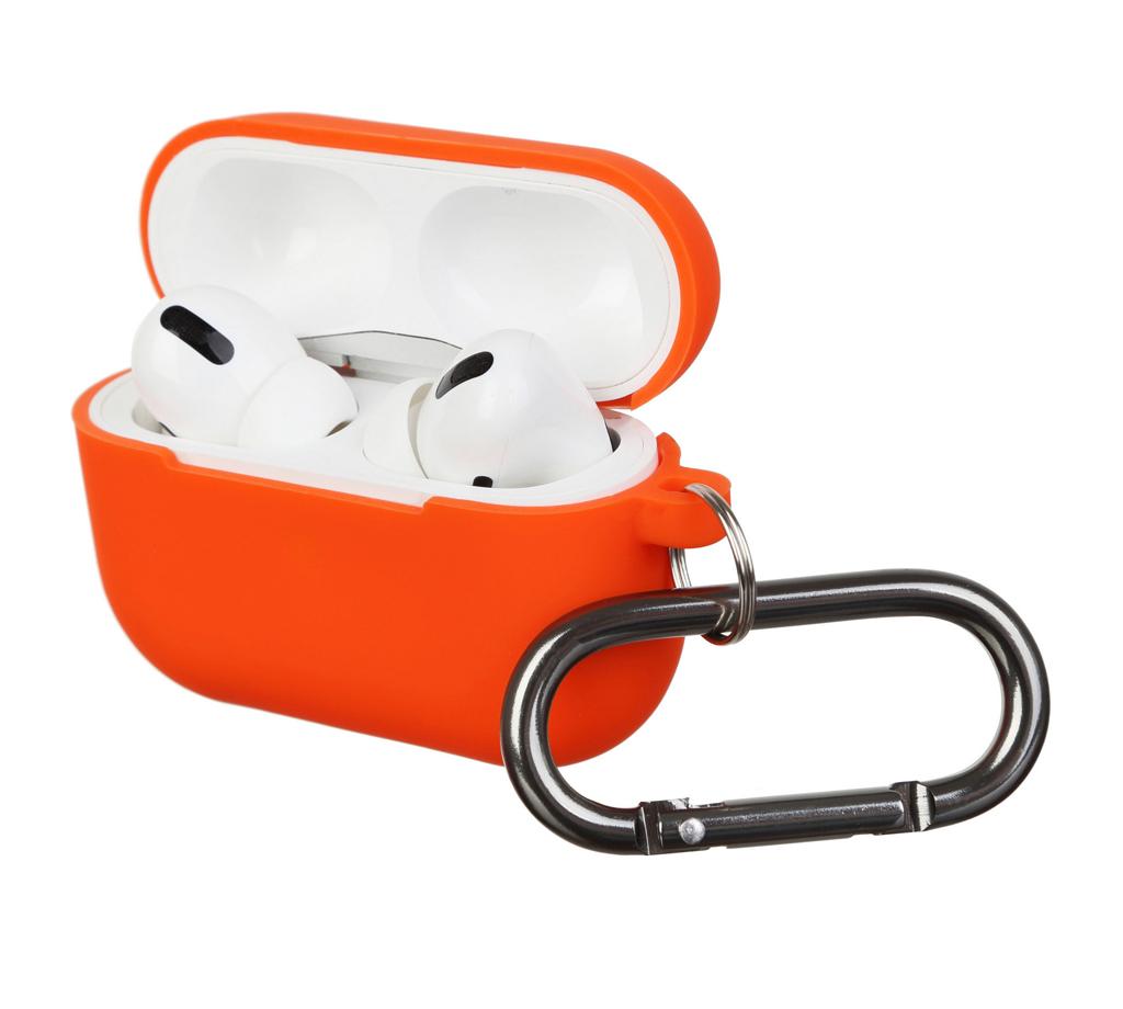 Чехол для Airpods Pro Silicon with hook Orange
