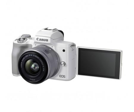 Фотоаппарат Canon EOS M50 Mark II kit (15-45mm) IS STM White (4729C028)