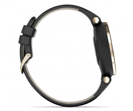 Смарт-часы Garmin Lily Cream Gold Bezel with Black Case and Italian Leather Band (010-02384-B1)