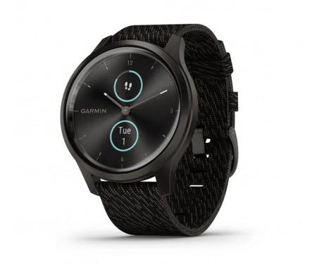 Смарт-часы Garmin Vivomove Style Graphite Aluminum w. Black Pepper Woven Nylon B. (010-02240-03)