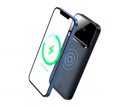 Power Bank Baseus Magnetic Wireless Quick Charging 20W 10000мАч, Blue (PPMT-03)