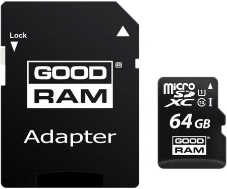 GOODRAM 64 GB microSDXC class 10 UHS-I 3 in 1 M1A4-0640R11