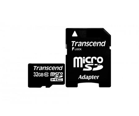 Transcend 32 GB microSDHC class 10 + SD Adapter TS32GUSDHC10