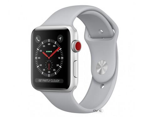 Apple Watch Series 3 (GPS + Cellular) 38mm Silver Aluminum w. Fog Sport B. (MQJN2)