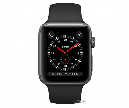 Apple Watch Series 3 42mm GPS + Cellular Space Gray Aluminum Case with Black Sport Band