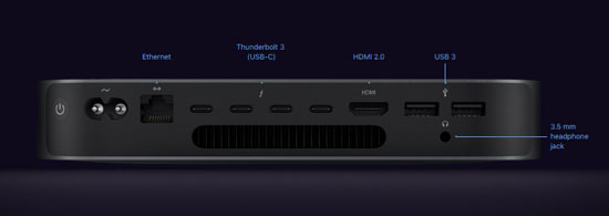 Неттоп Apple Mac mini Intel Core i7 16/512 Гб (2018)