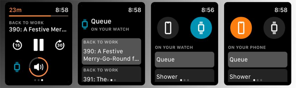 Overcast - приложение для Apple Watch
